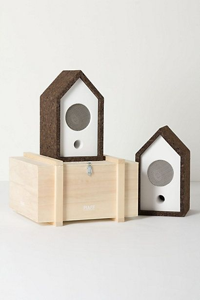 these birdhouses are speakers