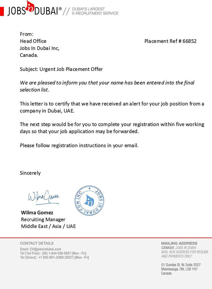 Job Offer Letter  Stuff To Buy    Job Offer