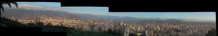 vista después de la lluvia desde el cerro San Cristobal