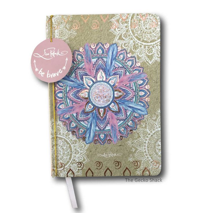 The Gecko Shack - Dream Journal Cherish You Mandala Design with Rose Gold Foiling by Lisa Pollock, $19.95 (http://www.geckoshack.com.au/dream-journal-cherish-you-mandala-design-with-rose-gold-foiling-by-lisa-pollock/)