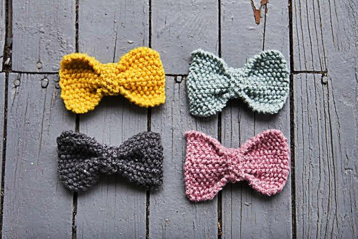 Custom  Knit Hair Bow Barrette Clip. $9.00, via Etsy.: Custom Knits, Knits Hair, Knits Bows, Crochet Bows, Bows Barrettes, Hair Bows, Customiz Knits, Crochet Knits, Barrettes Clip