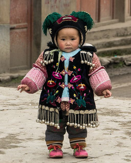 Miao child of the village QINGMAN. Guizhou Province, southwest China