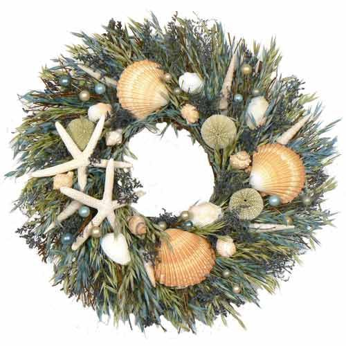 Seashell Wreaths for your Beach Cottage