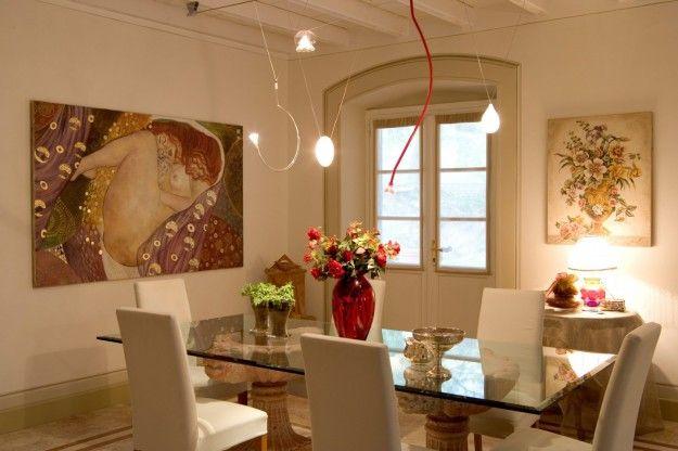 Arredamento e decorazione della sala da pranzo
