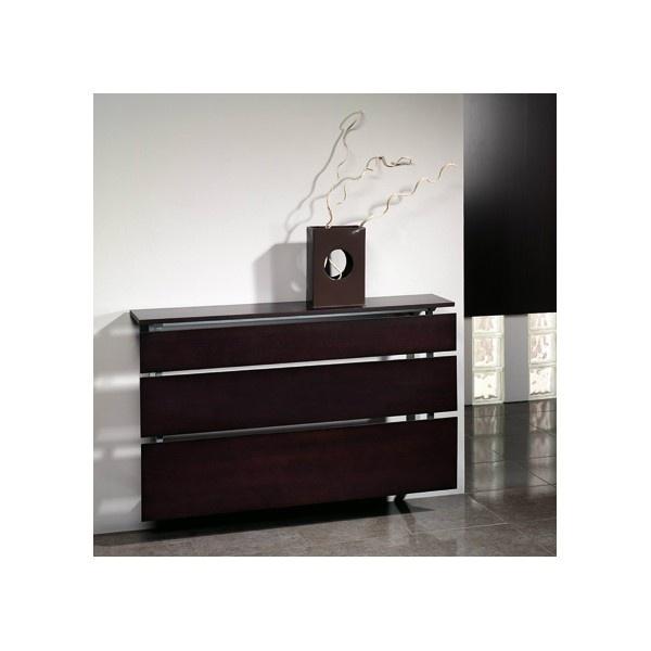 Cubreradiador con detalle decorativo en piel realizado en - Muebles para cubrir radiadores ...
