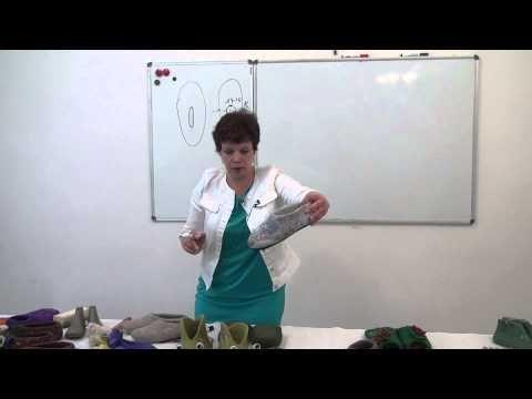 Ирина Полубояринова. Вырезы для тапочек - YouTube