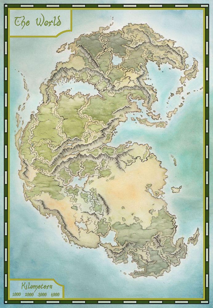 Pangea map by LingonB on DeviantArt