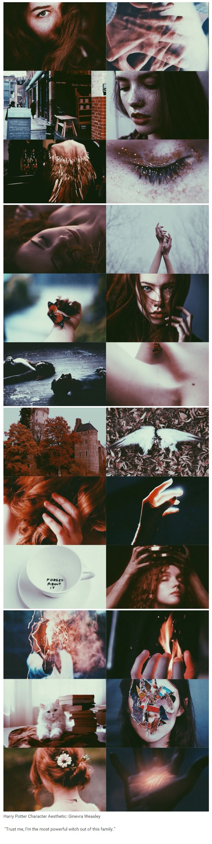 """foundinghouses: Harry Potter Character Aesthetic: Ginevra Weasley 