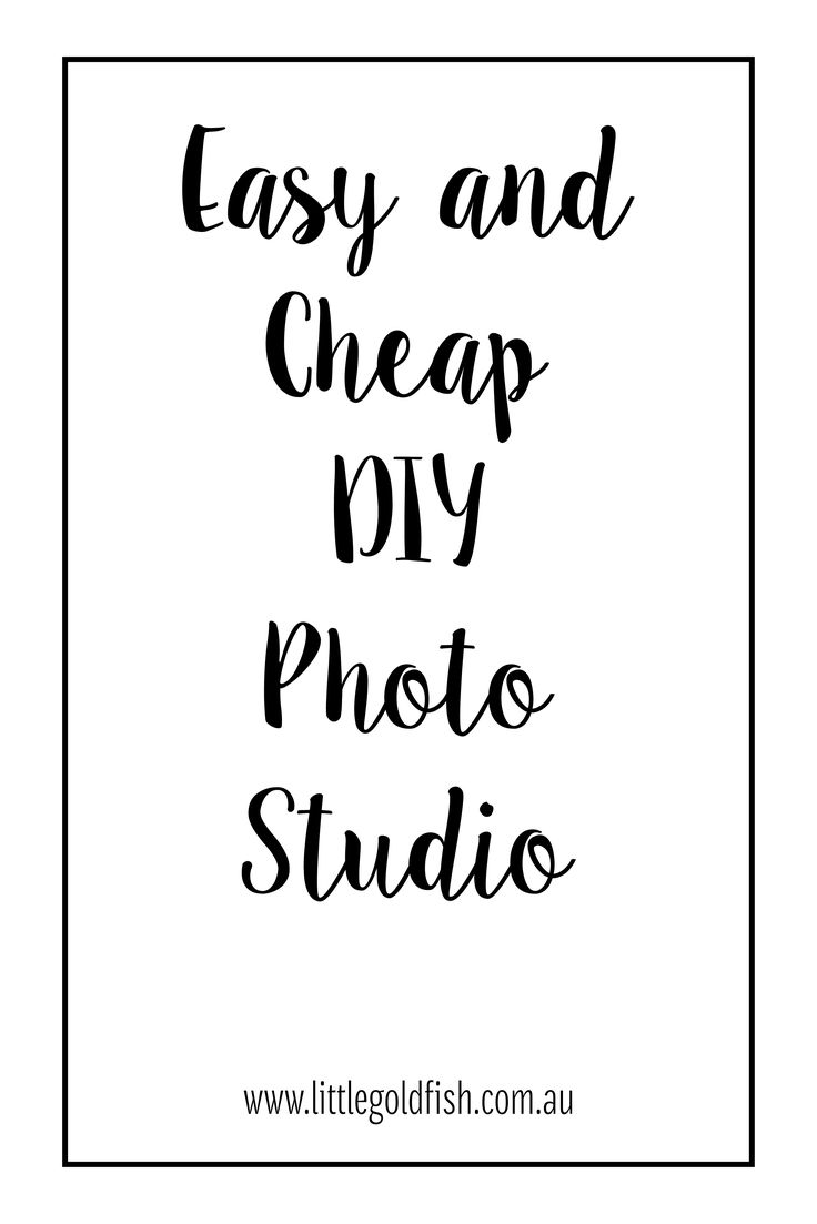 Make your own small product or flat lay photography studio at home with this easy and cheap solution