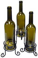 Beautiful Wine Bottle Candle Holder | Home Designing