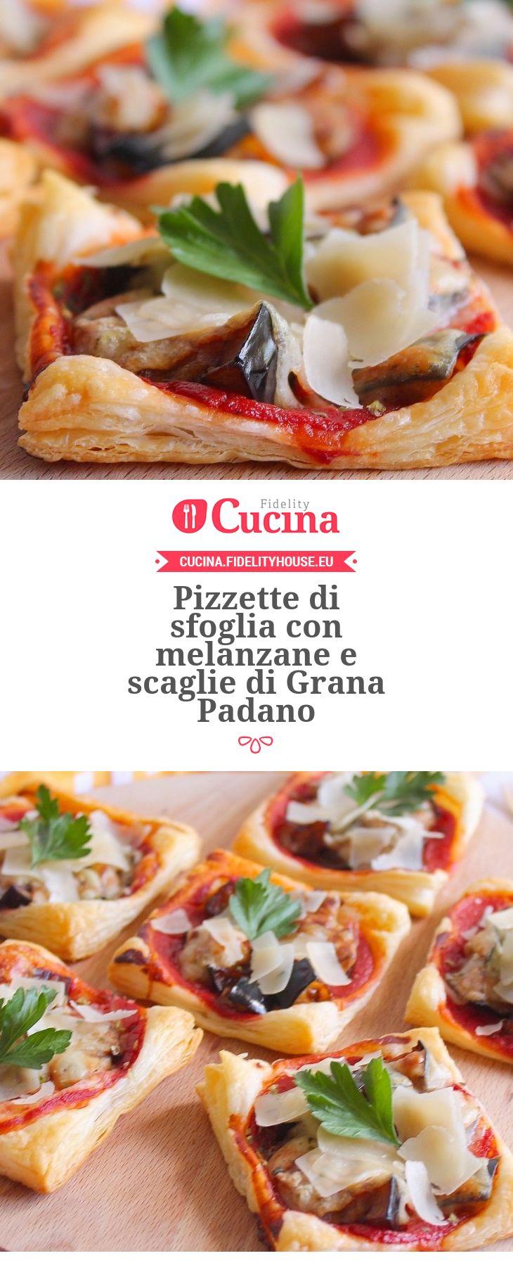 Pizzette di sfoglia con #melanzane e scaglie di #Grana Padano della nostra utente Giovanna. Unisciti alla nostra Community ed invia le tue ricette!