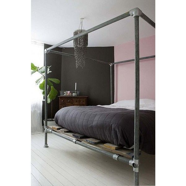 1000 ideas about industrial canopy beds on pinterest lofted beds bedroom sets and queen - Canopy bed without frame ...