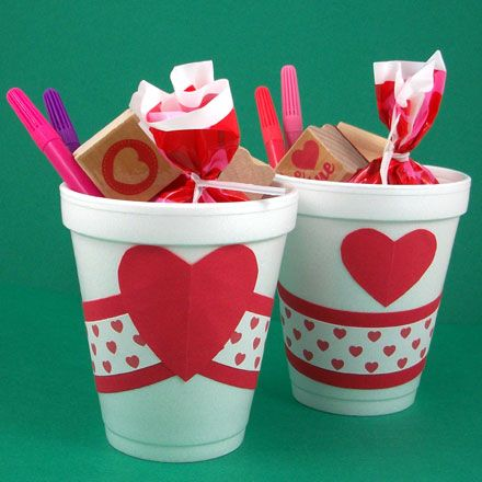Valentine's Day goodie cups~so cute yet so simple! :)