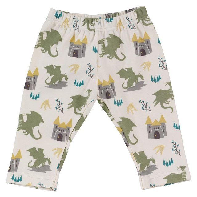 بنطال قطن برسمة التنين الاخضر مريح لطفلك وقت النوم ولادي بنطالون قطن Leggings Swimwear Patterned Shorts