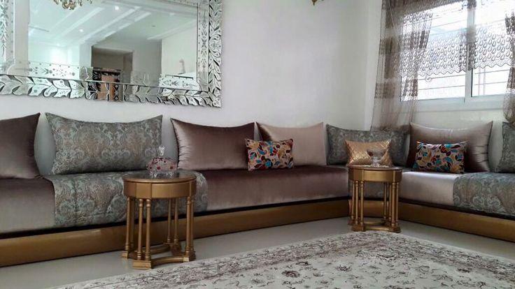 Très sobre salon marocain moderne / traditionel par la talentueuse décoratrice d'Intérieur Sur Mesure - Sophia Jamai - Casablanca Maroc