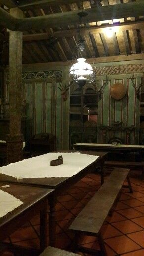 Inside Pecel Solo, a restaurant in Yogyakarta with a traditional javanese interior and architecture.
