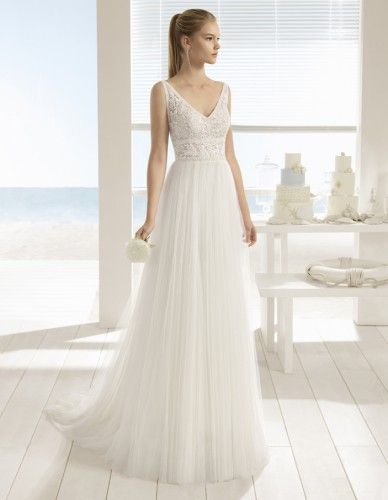 ROBE DE MARIÉE URUS PAR AIRE BARCELONA COLLECTION BEACH WEDDING 2018