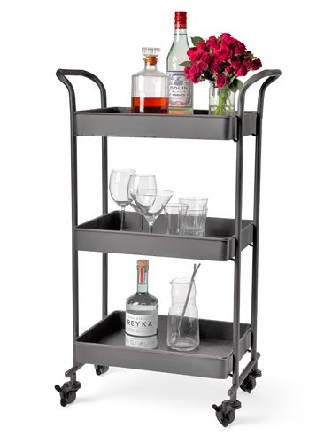 Happy hour, indeed! Cost Plus World Market's iron bar cart goes for less than $150.