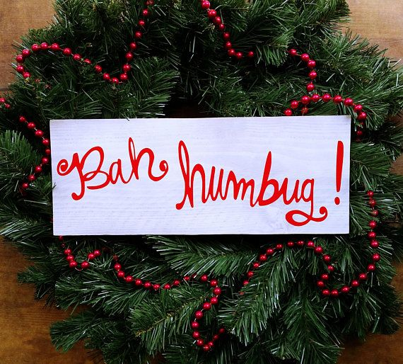 BAH HUMBUG Wood Sign Christmas Wood Sign Scrooge Decor - BAH HUMBUG Wood Sign €� Free Shipping €� Christmas Wood Sign €� Scrooge