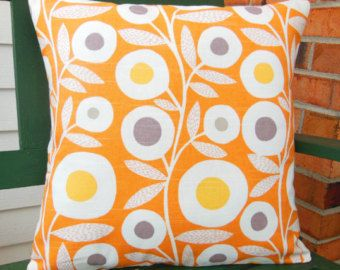 Throw Pillow Cushion Covers 18x18 Orange Gray Yellow Contemporary Home Decor  Decorative Home And Living Accent