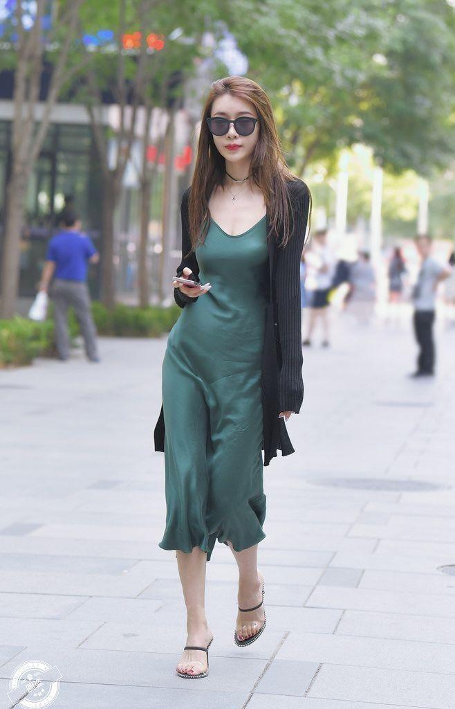 5121d3d900de9 Silk Green Dress/ Dark Green Slip wrap Dress/ Slip Dress midi/ Long ...