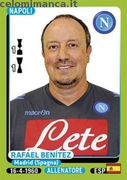 Calciatori 2014-2015: Fronte Figurina n. 320 Rafael Benítez