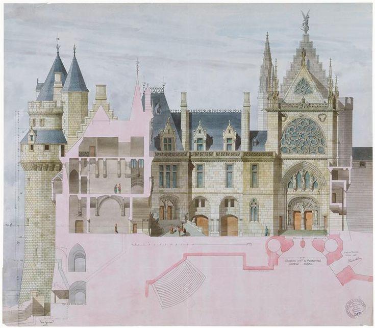 Les 25 meilleures id es concernant viollet le duc sur for Architecte grand palais