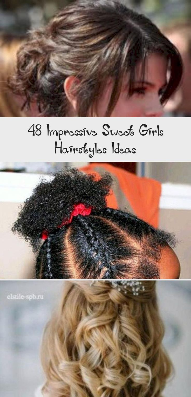 Impressive Sweet Girls Hairstyles Ideas 27 #babyhairstylesBob #Baldbabyhairstyles #babyhairstylesWithRubberbands #babyhairstylesCrown #babyhairstylesWhite