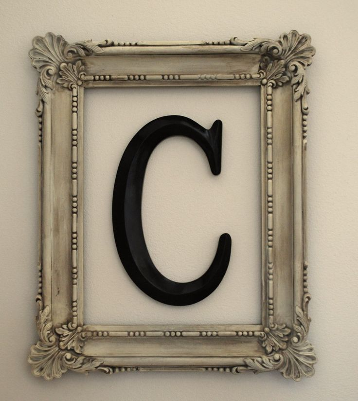 decorating with monograms | Oh, and I also spray painted the monogram. Hung them together, and ...