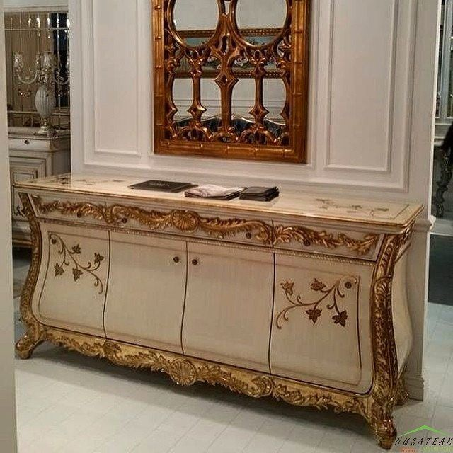 #Mahogany #French #Sideboard in Antique Gold and #Shabby Ivory Rahmadi by #NusaTeak  PIN: 7658A033 Call WA: 6281908021000 Inquiry: info@nusateak.com Site: NusaTeak.com  #Mebel #Furniture #Meuble #Home #Decor #Interior #FrenchSideboard #HomeDecor #Buffet #Cabinet #Carvings #HomeInterior #MahoganyBed #Cupboard #Commode #FurnitureDesign #InteriorDesign