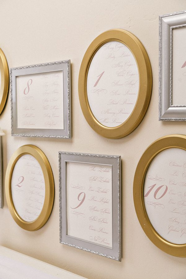 seating charts displayed in picture frames // photo by SweetLittlePhotographs.com // styling by EventityInc.com