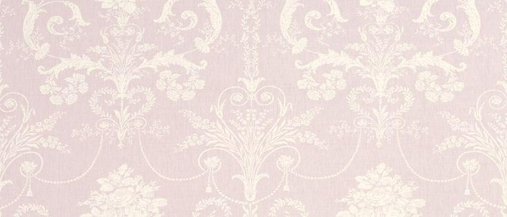 Josette Amethyst Floral Linen/Cotton Mix Curtain Fabric at Laura Ashley