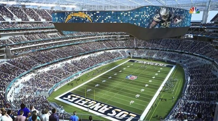 Sofi Stadium Los Angeles Chargers In 2020 Los Angeles Chargers Stadium Nfl Stadiums