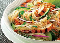 Thai Chicken Steaks with Rice Noodle Salad recipe from Food in a Minute