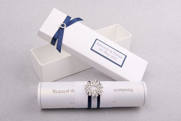 Beautiful scroll invitations for your wedding - be different! - English Wedding…