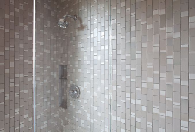 Fun shower tile heath ceramics dual glaze in stone grey for Heath tile