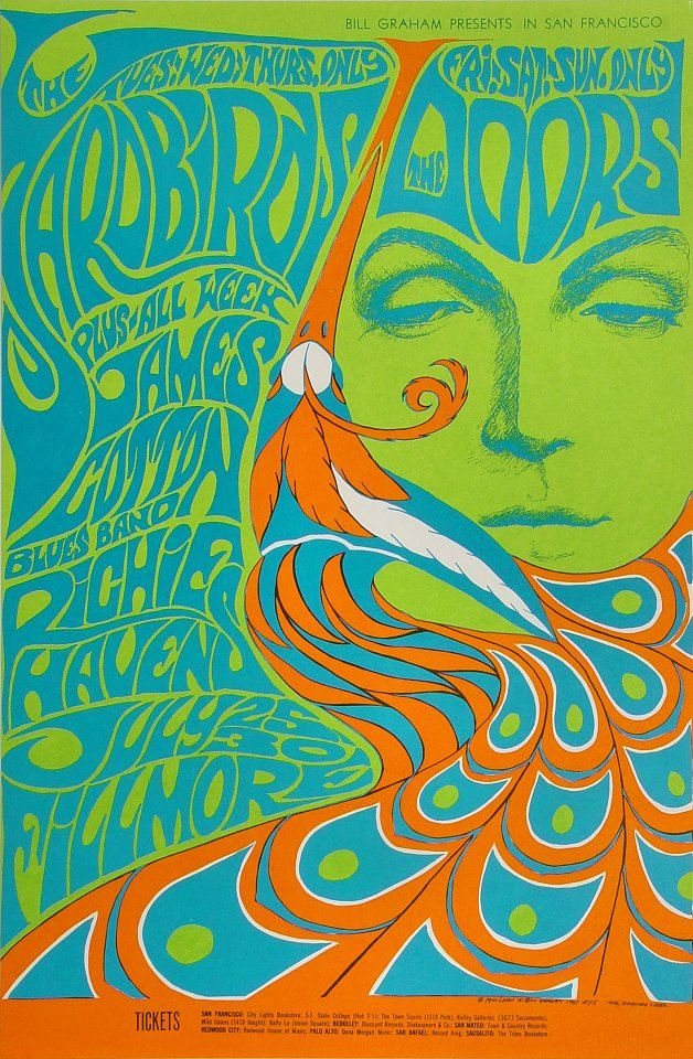 The Doors Yardbirds 1967 concert poster Fillmore SF 5th by PosterScene on Etsy https://www.etsy.com/listing/226602103/the-doors-yardbirds-1967-concert-poster