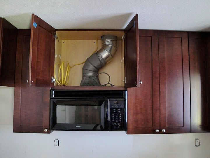 Moving a range hood by a few inches kitchens forum - How to vent a microwave on an interior wall ...