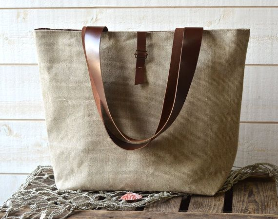 ROT PROOF  Eco friendly French bag  with Leather strap by ikabags,: Market Tote, Create Idea, Fashion Accessories, Fashionista Ideas