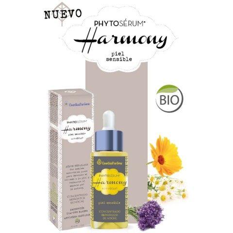 PHYTOSÉRUM® HARMONY - Piel sensible Phyto-sérum reparador 100 % natural. Devuelve el volumen a la piel y restaura su aspecto por la mañana.
