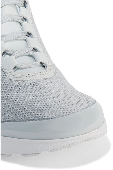 Nike - Air Max Jewell Leather-trimmed Mesh And Plastic Sneakers - Silver - US8.5