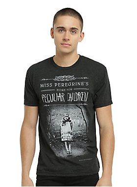 Love the book? Get the tee! // Miss Peregrines Home For Peculiar Children Book Cover T-Shirt