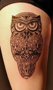 Image result for nordic owl tattoos
