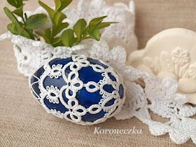 Easter egg in lace