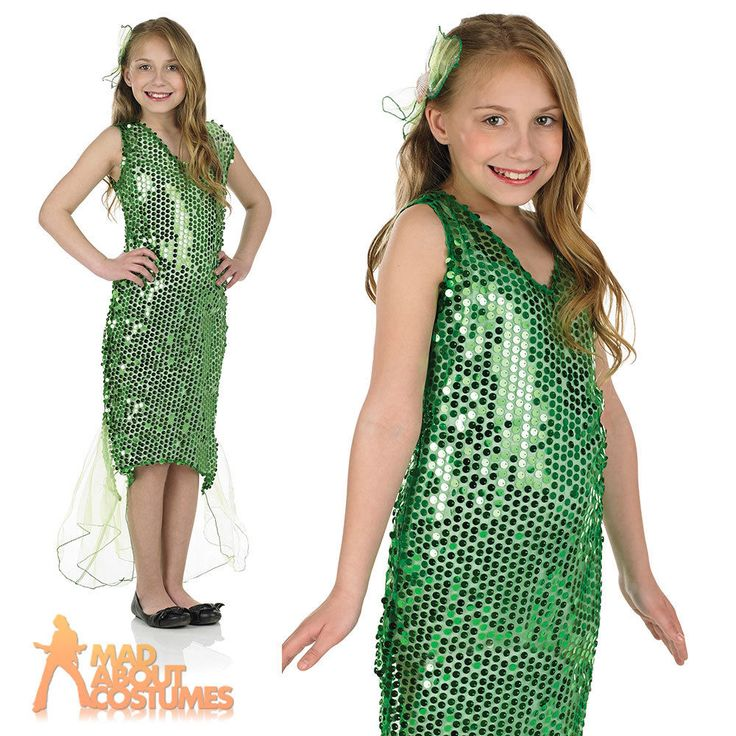 Girls Mermaid Costume Child Fairytale Ariel Fancy Dress Book Week Day Outfit New
