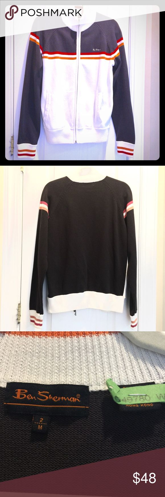 Ben Sherman zip up varsity style sweater EUC JUST GOT DRY CLEANED! No signs of wear Ben Sherman Sweaters Zip Up