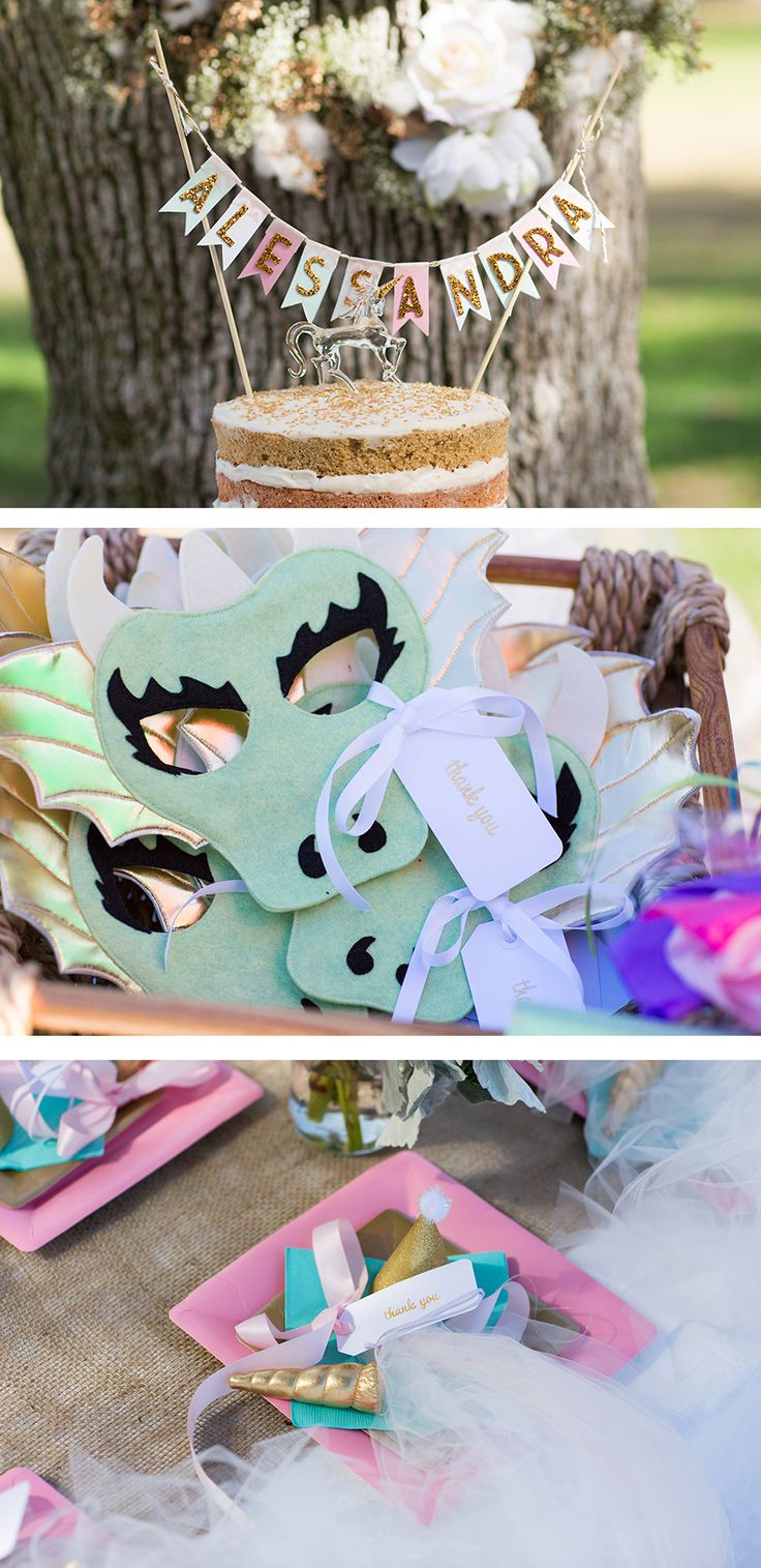 dragon and unicorn masks