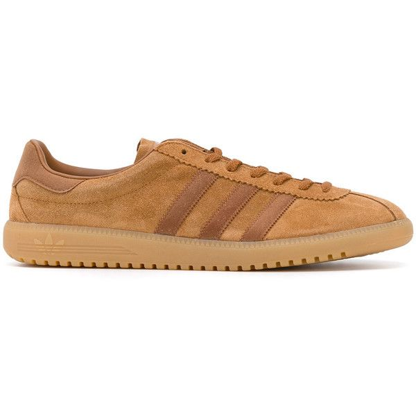 Adidas Originals Bermuda sneakers (1165 MAD) ❤ liked on Polyvore featuring men's fashion, men's shoes, men's sneakers, brown, mens leather sneakers, mens brown shoes, mens leather shoes, mens brown leather shoes and mens brown leather sneakers