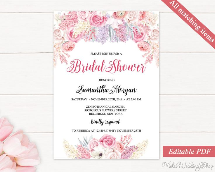 163 best Bridal Shower Invitation images on Pinterest Invitation - bridal shower invitation samples