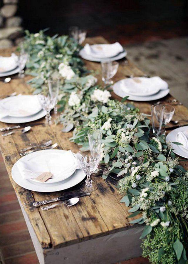 Une table de mariage champêtre